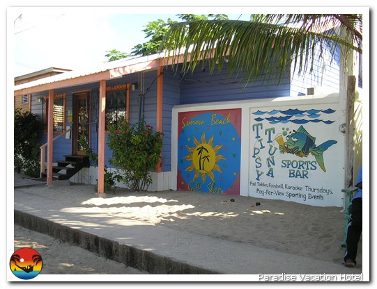 Tipsy Tuna Sports Bar in Placencia, Belize by Alan Stamm